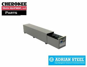 Adrian Steel Sa 10 Single Compartment Floor Drawer 10w X 12h X 51 5d Gray