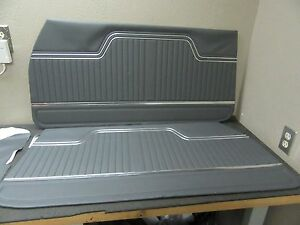 1970 1971 1972 Chevelle Front Door Panels Custom Gray