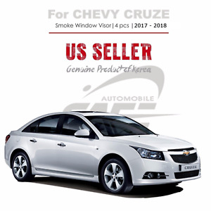 Smoke Window Vent Visor Rain Guard Out Channel 4 Pc For Chevy Cruze 2017 2019
