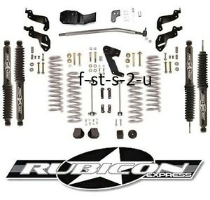 Rubicon Express 3 5 Sport Lift Kit Twintube Shocks 07 17 2 Door Jeep Wrangler