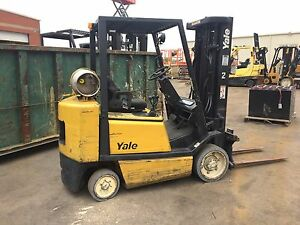 Yale 5000 Lb Propane lpg Forklift With Cushion Tires solid 3 Stage W sideshift