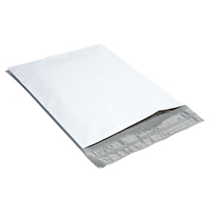 100 0 5x7 White Poly Mailers Shipping Envelopes Plastic Mailing Bags By Bag