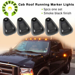 5pcs Roof Running Light Cab Marker Cover Top Lamp For Ford F150 250 450 550