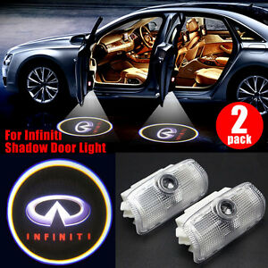 2x Led Logo Laser Gree Door Courtesy Welcome Light Shadow Projector For Infiniti