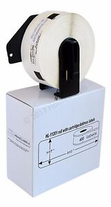 12 Rolls Dk 1201 Brother Compatible Address Labels With Permanent Cartridges