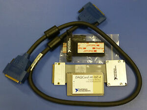 National Instruments Ni Daqcard ai 16e 4 Pcmcia Daq Card With Accessories