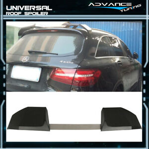Universal Fit Ikon Style Unpainted 2pcs Suv Add On Rear Roof Spoiler Wing Abs