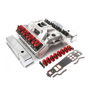 Fit Chevy Sbc 350 Straight Plug Solid Ft Cnc Cylinder Head Top End Engine Combo