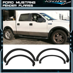 Fits 04 08 Ford F150 4pc Black Oe Style Fender Flare Wheel Cover Pp