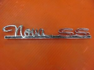 Nos 1963 63 Chevy Nova Ss Quarter Panel Emblem Gm Chevy Ii 4884158 Unused Gm