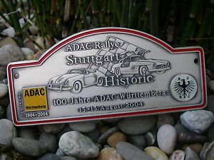 Adac Germany Rallye Stuttgart Badge Porsche 356 Mercedes Benz 300sl Gullwing