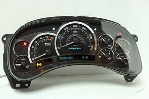03 04 05 Cadillac Escalade Reman Instrument Panel Cluster 0 Miles 50 Back