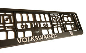 Black 3d Vw Volkswagen European Euro License Number Plate Holder Frame German