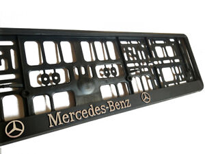 Black 3d Mercedes. Black 3d Mercedes Benz European Euro License Number  Plate Holder ...