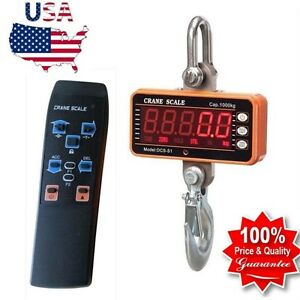 1000kg 1ton 2000lbs High Precision Digital Crane Scale Heavy Duty Hanging Scale