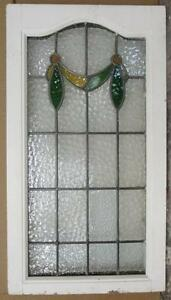 Large Old English Leaded Stained Glass Window Pretty Swag 33 25 X 18 5