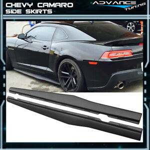 For 10 15 Chevy Camaro Ikon Style Side Skirts Polypropylene pp Pair Left Right