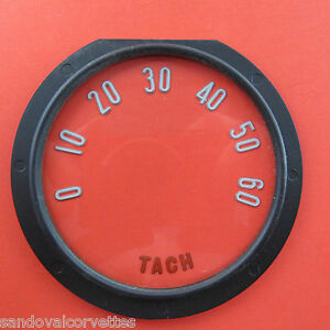 1955 1957 Corvette Tach Face Lens With Numbers 1956 55 56 57
