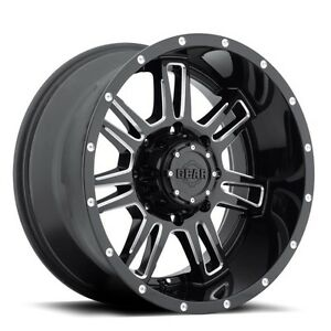 20 Inch 20x9 Gear Alloy 737bm Challenger Gloss Black Milled Wheel Rim 6x135 18