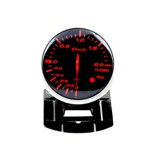 Defi Bf Style Turbo Boost Link Meter Gauge W Sensor 60mm White Amber Backlight