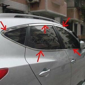 Stainless Window Frame Strips Sills Cover For Hyundai Tucson Ix35 2010 2011 2012