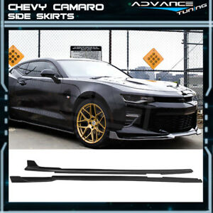 For 16 20 Chevy Camaro Ikon Style Side Skirts Polypropylene pp Pair Left Right