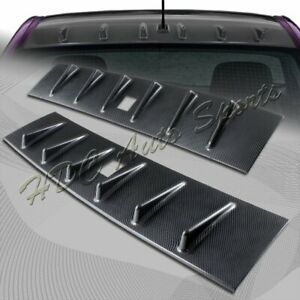For 2008 2016 Mitsubishi Lancer Evo X Carbon Style Shark Rear Roof Spoiler Wing