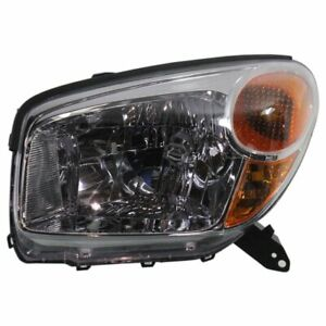 Halogen Headlight For 2004 2005 Toyota Rav4 Left W Socket Wiring
