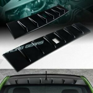 Fit Mitsubishi Lancer Evo 10 Glossy Black Rear Roof Shark Fin Style Spoiler Wing