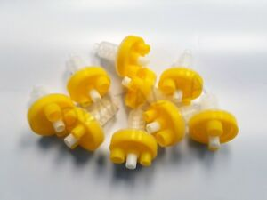 500pcs Yellow Dental Dynamic Mixing Tips Machine Heraeus Kulzer Kerr Zhermack