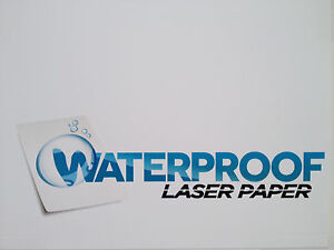 Waterproof Laser Paper 8 5 X 11 5 7 Mil 50 Sheets