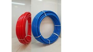 200 Total 1 2 Non Oxygen Barrier Pex Tubing 100 Red And 100 Blue