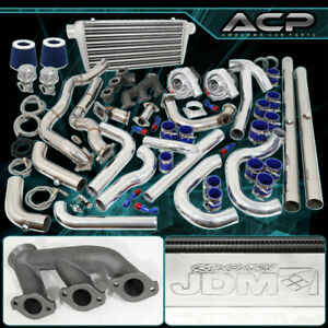 94 95 96 97 Mustang V6 Twin Turbo Charger Blue Chrome Fmic Piping Kit Air Filter