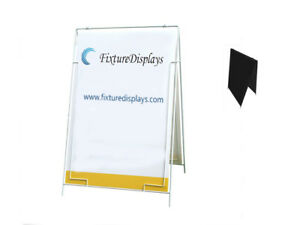 Wire A frame Menu Sign A board Grass Spike With Coroplast Sheet Board
