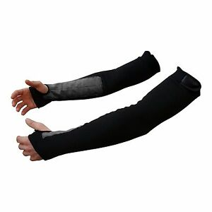 22quot; Black Kevlar Protective Arm Sleeves 1 Pair Made With Kevlar $21.50