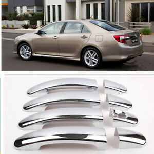 Fit 2012 16 2017 Toyota Camry 4 Door Handle Chrome Covers W O Passenger Keyhole