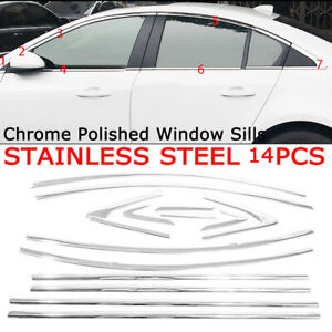 Fit 2009 2010 2011 2012 2013 2014 Chevrolet Chevy Cruze Chrome Window Frame Trim