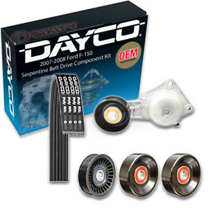 Dayco Serpentine Belt Drive Component Kit For 2007 2008 Ford F 150 5 4l 4 6l Hk