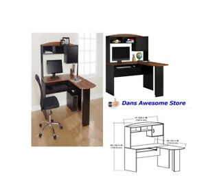Corner Computer Desk L shaped Workstation Laptop Home Office Student Furniture