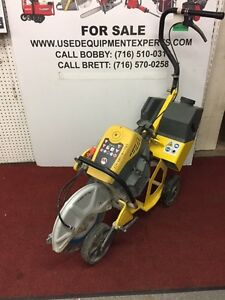 Wacker Neuson Bts635s 14 Cut off Saw Diamond Blade Cart Sprinkling System Used