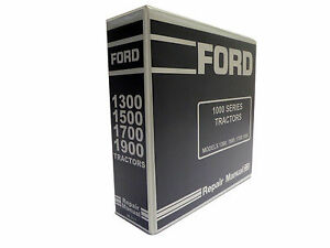 Ford 1300 1500 1700 1900 Tractor Service Manual Repair Shop Book New W binder