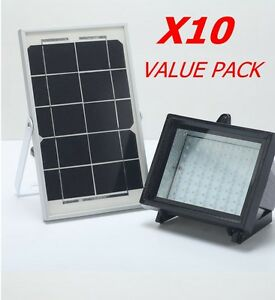 Bizlander 10pack Solar Power Flood Light 60led For Parks Garden Carport