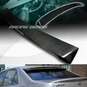 Vip style Real Carbon Fiber Rear Roof Window Spoiler Wing Fit 01 05 Lexus Is300