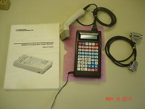 M3000 American Microsystems Portable Bar Code Reader W Wand Cable