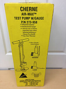 Cherne Air Max Test Pump With Gauge 273958 New In Box