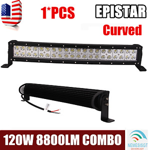 23 Inch 120w Led Work Light Bar Curved Ute Suv Atv Off Road Truck Tractor 22 24