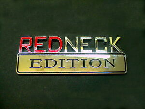 Buick Chrome Emblem Decal Logo Fender Bumper redneck Edition Badge Plaque