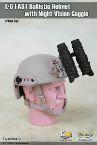 1:6 Toys City FAST Ballistic Helmet C for Action Figure w Night Vision Goggle