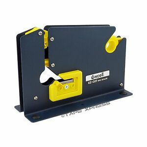 Excell Metal Dispenser For Bag Sealing Tape 3 8 And 1 2 With Bag Trimmer