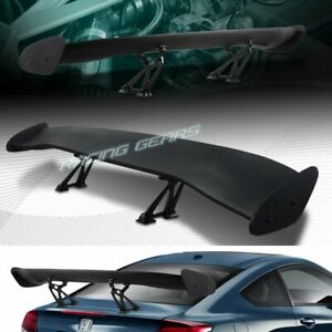 Universal 57 Wing Dragon 2 Style Black Abs Gt Trunk Adjustable Spoiler Wing